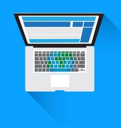 Concept technology notebook computer social vector