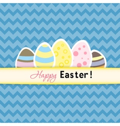 Easter card with five eggs vector image vector image