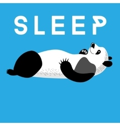Fun card with a panda sleeping vector image