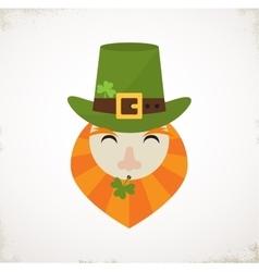 Happy st patricks day irish man with beer st vector