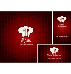 menus and business cards vector image vector image