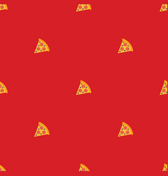 pizza seamless pattern texture bacground vector image
