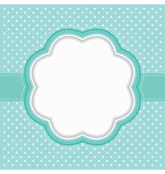 polka dot frame vector image
