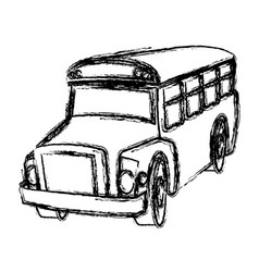 School bus transport vehicle service elementary vector