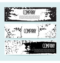 Set of three banners Abstract header background vector image vector image