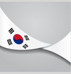 South korean wavy flag vector