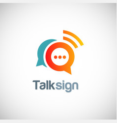 talk sign chat communication logo vector image