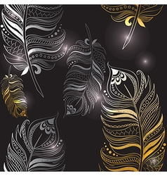Texture with feathers vector