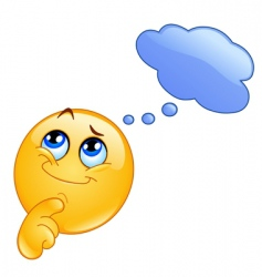 thinking emoticon vector image