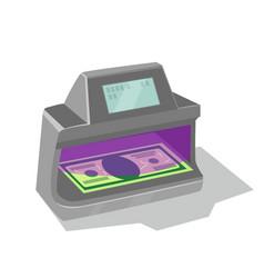 Ultraviolet banknote detector vector
