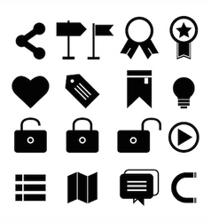 web design icon set vector image