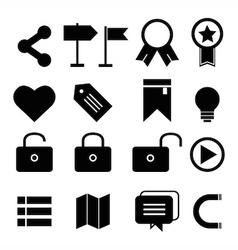web design icon set vector image vector image