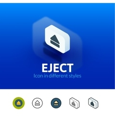 Eject icon in different style vector