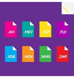 Video file formats vector image