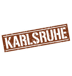 Karlsruhe brown square stamp vector