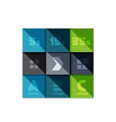 Creative paper flat geometric banner template vector