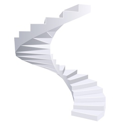 White spiral staircase vector