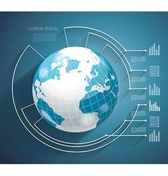 Business world concept modern design template vector image