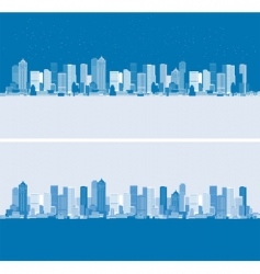 Day and night cityscape background vector