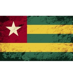 Togolese flag grunge background vector