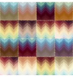 Patchwork with chevrons of stains vector