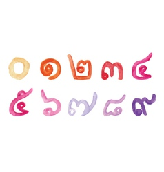 Thai number vector