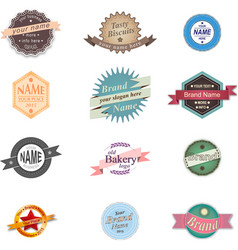 Vintage badge logo set vector