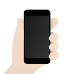Smartphone in male hand design template vector