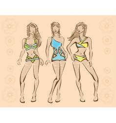 Beachwear vector