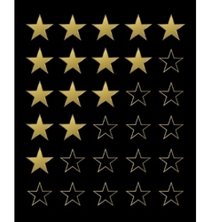 Golden rating stars vector