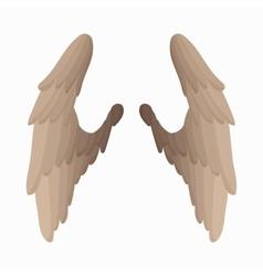Pair of bird wings icon cartoon style vector image