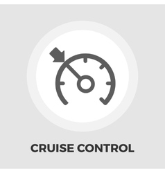 Cruise control flat icon vector