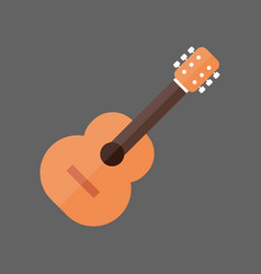Acoustic guitar icon music instrument concept vector