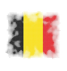 belgium flag halftone vector image