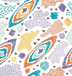 Boho seamless pattern vintage colorful background vector