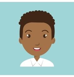 boy student uniform icon vector image
