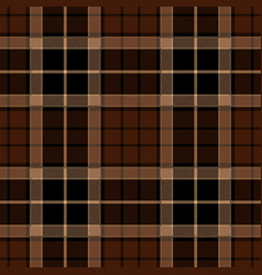 brown tartan plaid seamless pattern vector image vector image