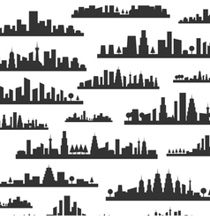 City a background vector image vector image