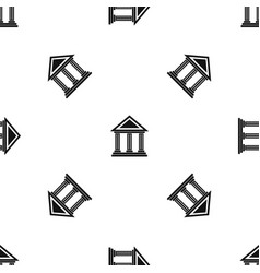 colonnade pattern seamless black vector image