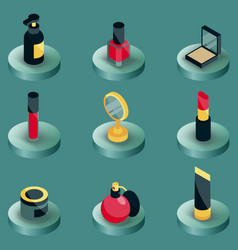 cosmetic color isometric icons vector image