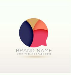 creative chat logo symbol concept design vector image vector image