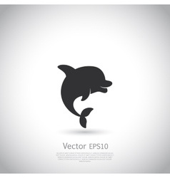 Dolphin icon or logo Black vector image