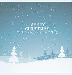 Elegant snowy merry christmas greeting background vector
