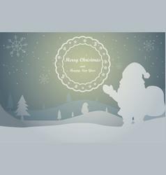 Greeting card christmas card vector