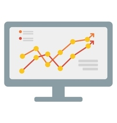 Growing business graph on computer monitor vector