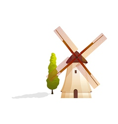 Icon windmill vector