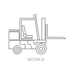line flat icon construction machinery vector image