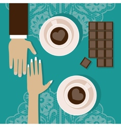 Lovers drink coffee vector image vector image
