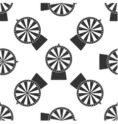 Lucky wheel icon seamless pattern vector