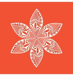 Ornament kaleidoscopic floral pattern vector